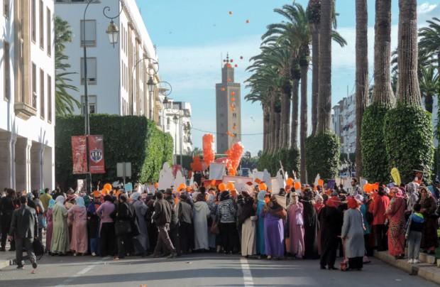 Amnesty International protest in Morocco