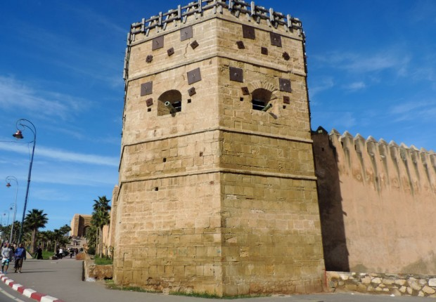 Impressive corner turret in the kasbah.