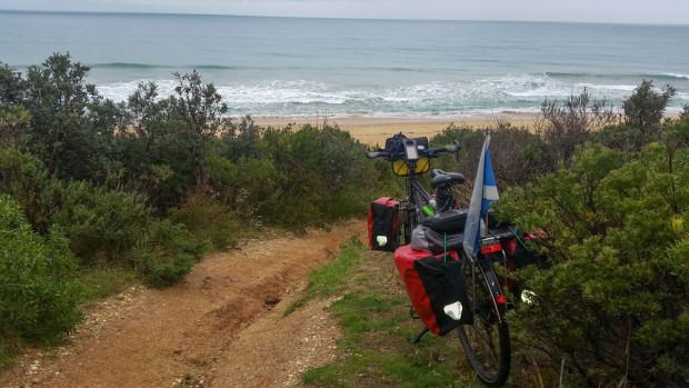 As far as the bike can get towards 90 miles beach.