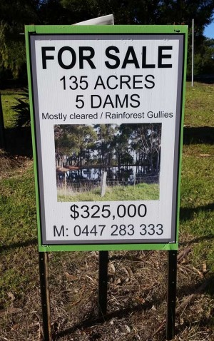 Where you can pick up land at a very reasonable price.