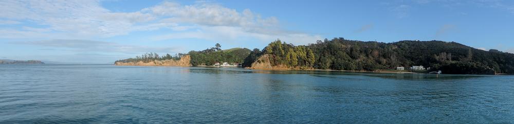 Waiheke shoreline from the boat