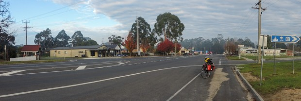 Cann River high street, on the right, behind the wall art there is the motel room.